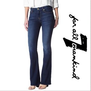 """7 FOR ALL MANKIND """"A"""" POCKET FLARE JEANS SIZE 28"""